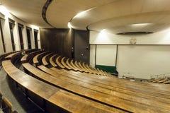 Τεράστια αίθουσα συνεδριάσεων του τεχνικού πανεπιστημίου, που καθιερώνεται το 1868 για τη βαθμολόγηση των σπουδαστών Στοκ εικόνες με δικαίωμα ελεύθερης χρήσης