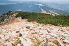 Τεράστια αιχμή Solisko υψηλά tatras της Σλοβακίας Στοκ Φωτογραφία