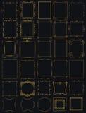 Τεράστια μέγα συλλογή των διανυσματικών πλαισίων εκλεκτής ποιότητας σε σύγχρονο Στοκ Εικόνα