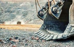 Τεράστια μεταλλεία φτυαριών σε ένα ορυχείο στοκ εικόνα με δικαίωμα ελεύθερης χρήσης
