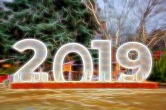 Τεράστια ψηφία 2019 απεικόνιση ελεύθερη απεικόνιση δικαιώματος