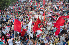 Τεράστια demostrations ενάντια στον Πρόεδρο Morsi στην Αίγυπτο Στοκ Εικόνες