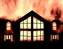 Πυρκαγιά σπιτιών Στοκ Εικόνα