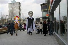 Τεράστιοι περίπατοι μαριονετών στη νέα οδό Arbat στη Μόσχα Στοκ Εικόνες