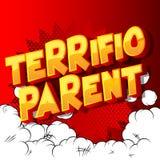 Τεράστιος γονέας - λέξεις ύφους κόμικς διανυσματική απεικόνιση