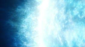 Τεράστιος καμμένος μπλε πλανήτης αερίου απόθεμα βίντεο