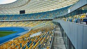 Τεράστιος κενός χώρος ποδοσφαίρου Στοκ εικόνες με δικαίωμα ελεύθερης χρήσης