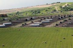 Τεράστιο αγρόκτημα χοίρων Στοκ φωτογραφία με δικαίωμα ελεύθερης χρήσης