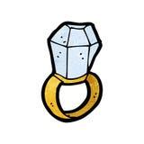 τεράστιο δαχτυλίδι διαμαντιών κινούμενων σχεδίων Στοκ Εικόνα