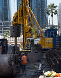 Τεράστιο εργοτάξιο οικοδομής στο στο κέντρο της πόλης Σαν Φρανσίσκο Στοκ Φωτογραφία