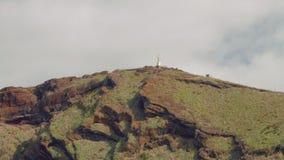Τεράστιο μνημείο στο Ιησούς Χριστό στο νησί της Μαδέρας, ακρωτήριο Ponta do Garajau φιλμ μικρού μήκους