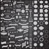 Τεράστιο σύνολο ορισμένων τρύγος εικονιδίων σχεδίου hipster Διανυσματικά σημάδια και πρότυπα συμβόλων για το σχέδιό σας