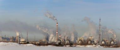 Τεράστιο χημικό εργοστάσιο Στοκ Εικόνα