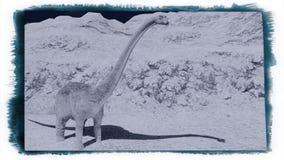 Τεράστιο diplodocus στο άγονο έδαφος διανυσματική απεικόνιση