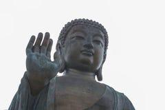 Τεράστιο Tian Tan Βούδας Po Lin στο μοναστήρι στο Χονγκ Κονγκ Στοκ Εικόνες