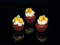 Τερακότα cupcakes στοκ εικόνα
