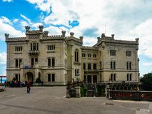 Τεργέστη, Ιταλία - 29 Απριλίου 2017: Miramare Castle στοκ εικόνα