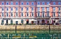 Τεργέστη, Ιταλία - Canale S Antonio, γραφική εικονική παράσταση πόλης Στοκ φωτογραφία με δικαίωμα ελεύθερης χρήσης