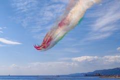 Τεργέστη Ο αέρας παρουσιάζει Frecce Tricolori Στοκ εικόνες με δικαίωμα ελεύθερης χρήσης