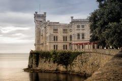 Τεργέστη Castle Miramare Στοκ Φωτογραφίες