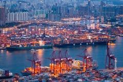 Τερματικά εμπορευματοκιβωτίων Tsing Kwai Στοκ Εικόνα
