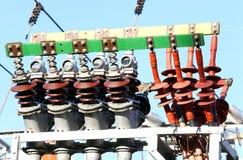 Τερματικά χαλκού εγκαταστάσεων παραγωγής ενέργειας για να παραγάγει την ηλεκτρική ενέργεια Στοκ Φωτογραφία