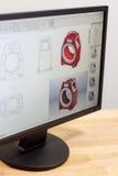 Τερματικός σταθμός μηχανικών CAD Στοκ Φωτογραφίες