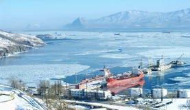 Τερματικός σταθμός πετρελαίου Στοκ φωτογραφία με δικαίωμα ελεύθερης χρήσης