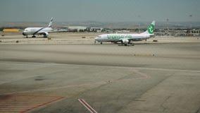 Τερματικό αερολιμένων και κυκλοφορία αεροδρομίων timelapse απόθεμα βίντεο