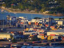 Τερματικό αποθήκευσης εμπορευματοκιβωτίων Στοκ φωτογραφίες με δικαίωμα ελεύθερης χρήσης