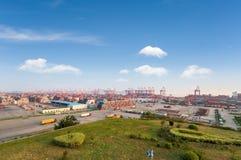 Τερματικό εμπορευματοκιβωτίων της Σαγκάη στοκ εικόνα με δικαίωμα ελεύθερης χρήσης