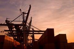 τερματικό εμπορευματοκιβωτίων Στοκ φωτογραφία με δικαίωμα ελεύθερης χρήσης