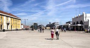 Τερματικό κρουαζιέρας της Λισσαβώνας Στοκ εικόνα με δικαίωμα ελεύθερης χρήσης