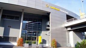 Τερματικό πρώτης θέσης της Lufthansa στη Φρανκφούρτη Στοκ Εικόνες