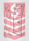Τερματικό πληρωμής, ATM Στοκ φωτογραφία με δικαίωμα ελεύθερης χρήσης