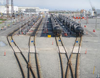 Τερματικό ραγών πετρελαίου του Irving Στοκ εικόνες με δικαίωμα ελεύθερης χρήσης