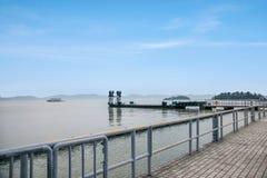 Τερματικό σεντ λιμνών Taihu Yuantouzhu Taihu Wuxi Στοκ εικόνα με δικαίωμα ελεύθερης χρήσης