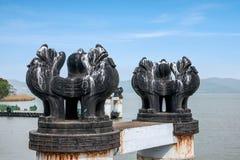 Τερματικό σεντ λιμνών Taihu Yuantouzhu Taihu Wuxi Στοκ εικόνες με δικαίωμα ελεύθερης χρήσης