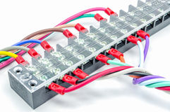 Τερματικό συνδετήρων καλωδίων Στοκ εικόνα με δικαίωμα ελεύθερης χρήσης