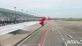 Τερματικό τέσσερα στον αερολιμένα Changi απόθεμα βίντεο