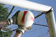 Τερματοφύλακας ποδοσφαίρου ποδοσφαίρου Στοκ εικόνα με δικαίωμα ελεύθερης χρήσης