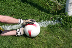 Τερματοφύλακας ποδοσφαίρου ποδοσφαίρου Στοκ Εικόνες