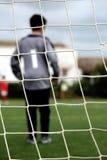 Τερματοφύλακας στο γήπεδο ποδοσφαίρου Στοκ εικόνα με δικαίωμα ελεύθερης χρήσης