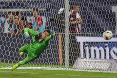 Τερματοφύλακας ποδοσφαίρου - πνεύμονας Jr Silviu Στοκ φωτογραφία με δικαίωμα ελεύθερης χρήσης