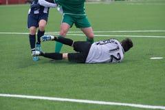 Τερματοφύλακας ποδοσφαίρου στη δράση Στοκ φωτογραφία με δικαίωμα ελεύθερης χρήσης