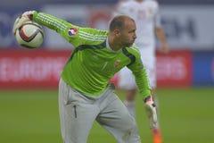Τερματοφύλακας ποδοσφαίρου - Gabor Kiraly Στοκ Φωτογραφίες