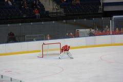 Τερματοφύλακας χόκεϋ πάγου Στοκ Φωτογραφίες