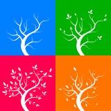 Τεσσάρων εποχών δέντρα, απεικόνιση Στοκ Εικόνα