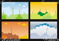τεσσάρων εποχών Στοκ εικόνα με δικαίωμα ελεύθερης χρήσης