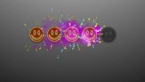 Τεσσάρων Emoticons εικόνα εκτίμησης Στοκ Εικόνες